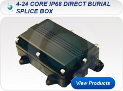 4-24 Core IP68 Direct Burial Splice Box