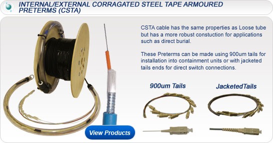 Internal/External Corrugated Steel Tape Armoured Preterms (CSTA)