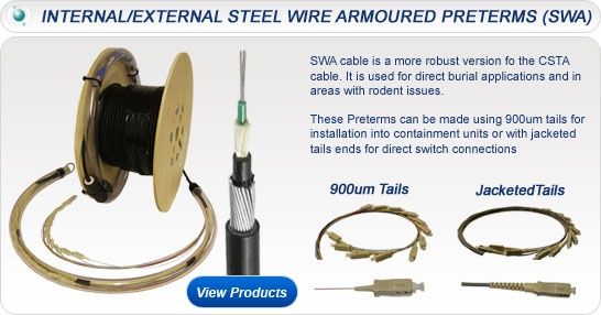 Internal/External Steel Wire Armoured Preterms (SWA)